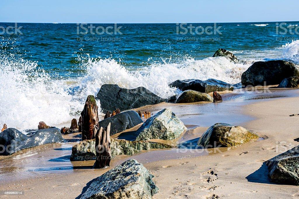 Rock and Sea stock photo