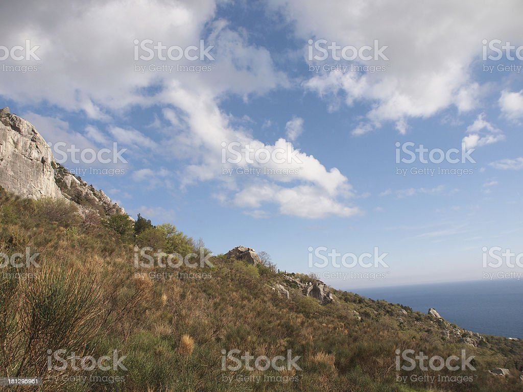 rock and sky royalty-free stock photo
