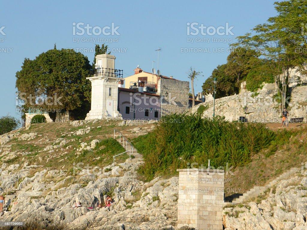 Rock and stones of Rovinj stock photo