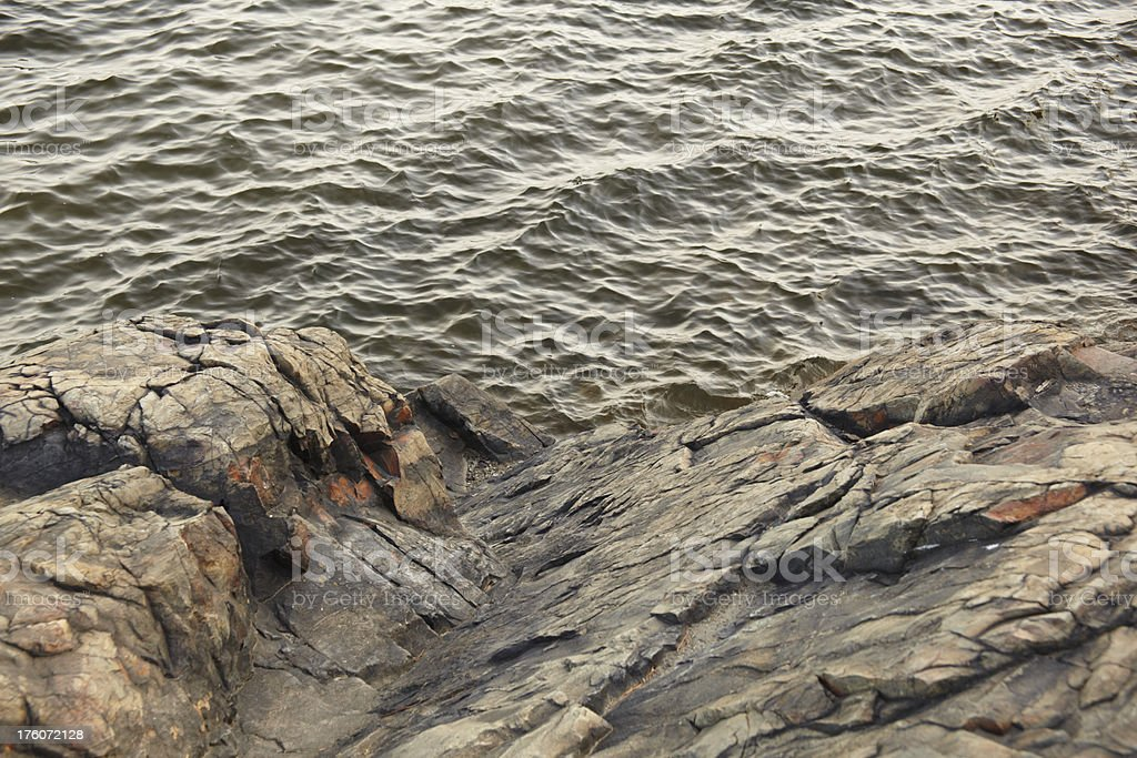 Rock and Water Nature Abstract stock photo