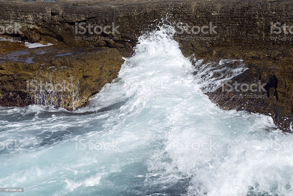 Rock and Wave royalty-free stock photo