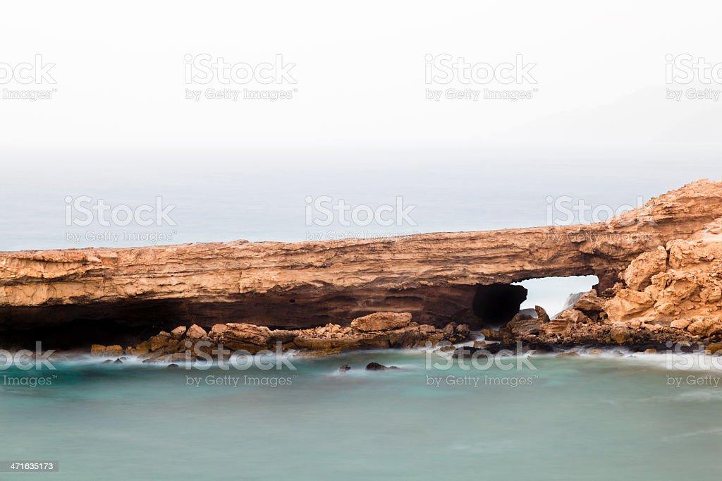 Rock Arch Long Exposure stock photo