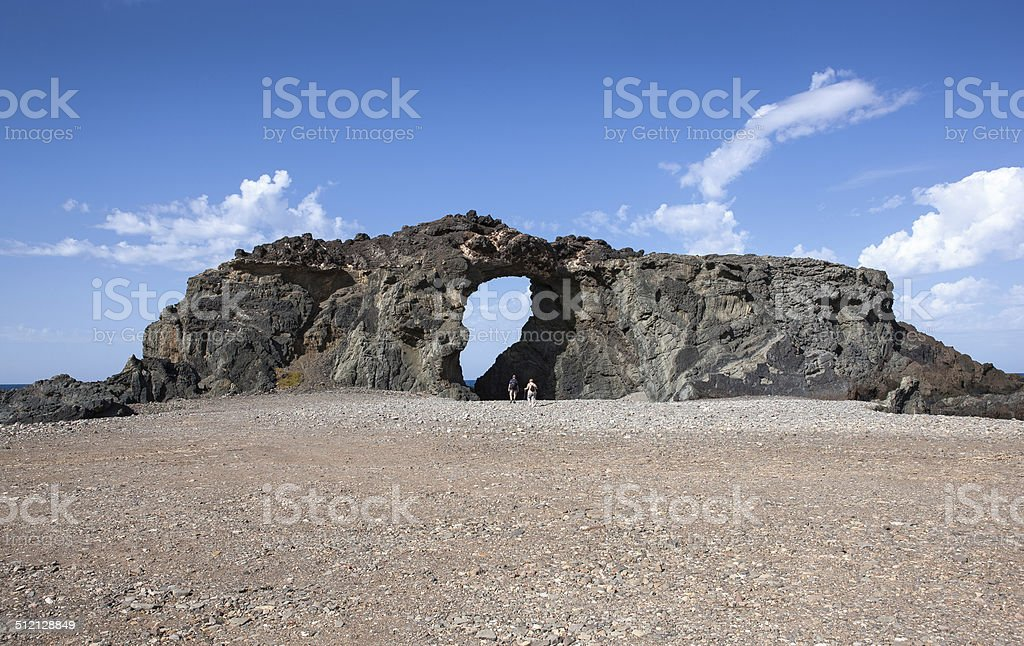Rock arch Pena Horadada on Fuerteventura royalty-free stock photo