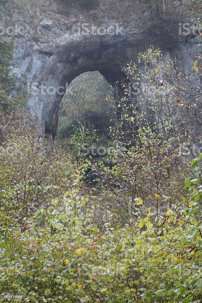 Rock arch stock photo