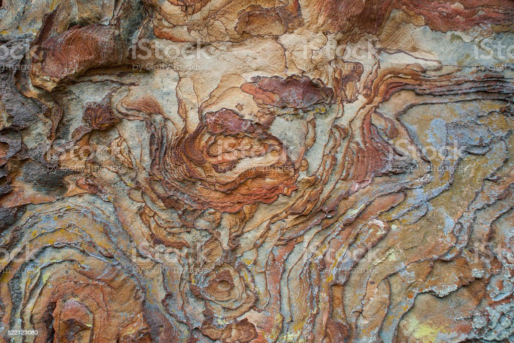 Rock art created by nature stock photo