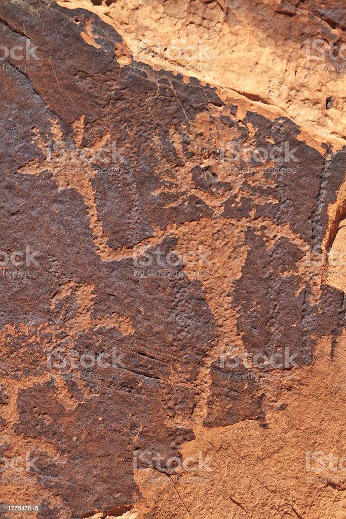 Rock Art Figure Waving royalty-free stock photo