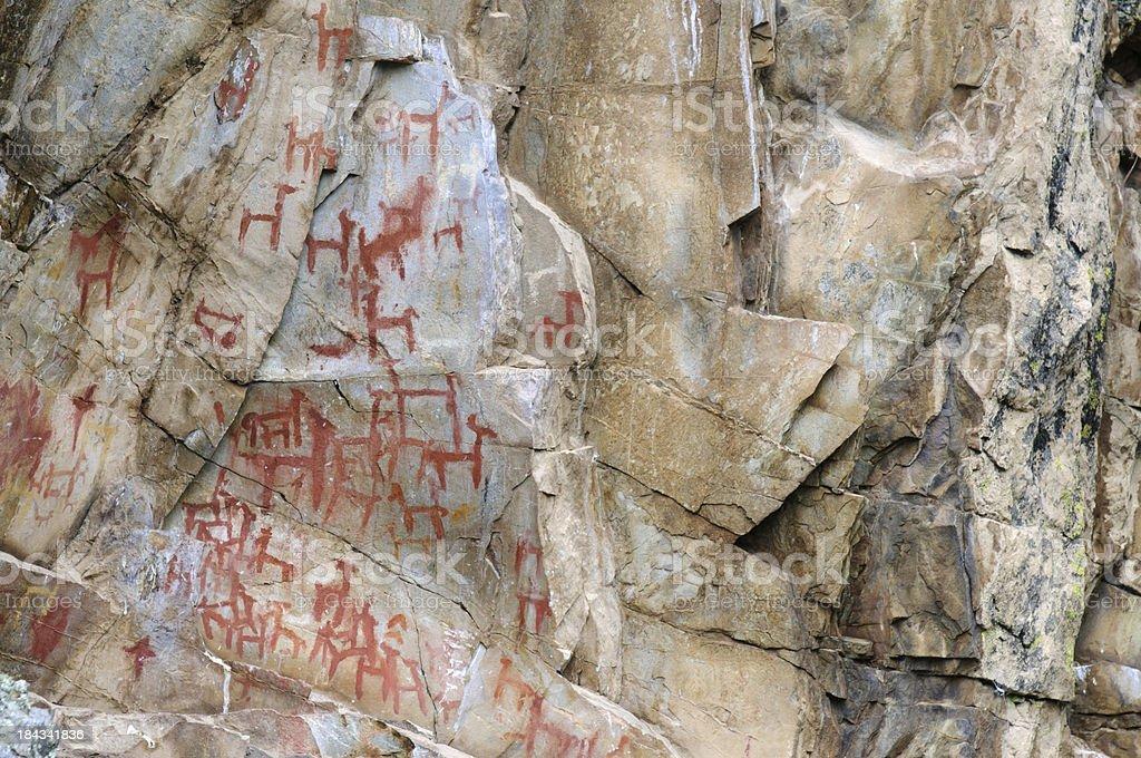 Rock Art in Peru stock photo