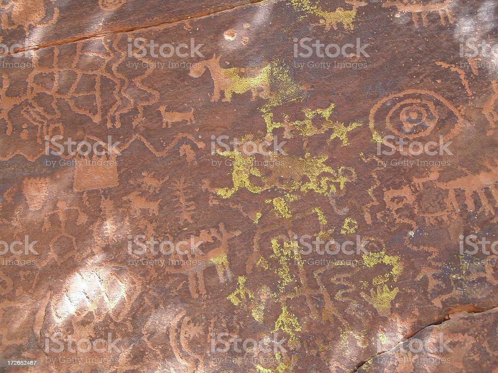 rock art mural royalty-free stock photo