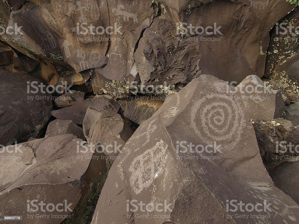 Rock Art of Nampaweep royalty-free stock photo