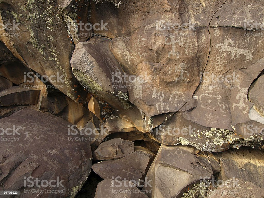 Rock Art of Nampaweep royalty-free stock vector art