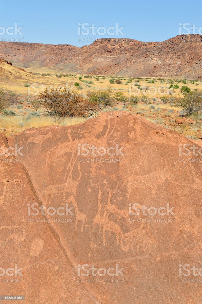 Rock art royalty-free stock photo