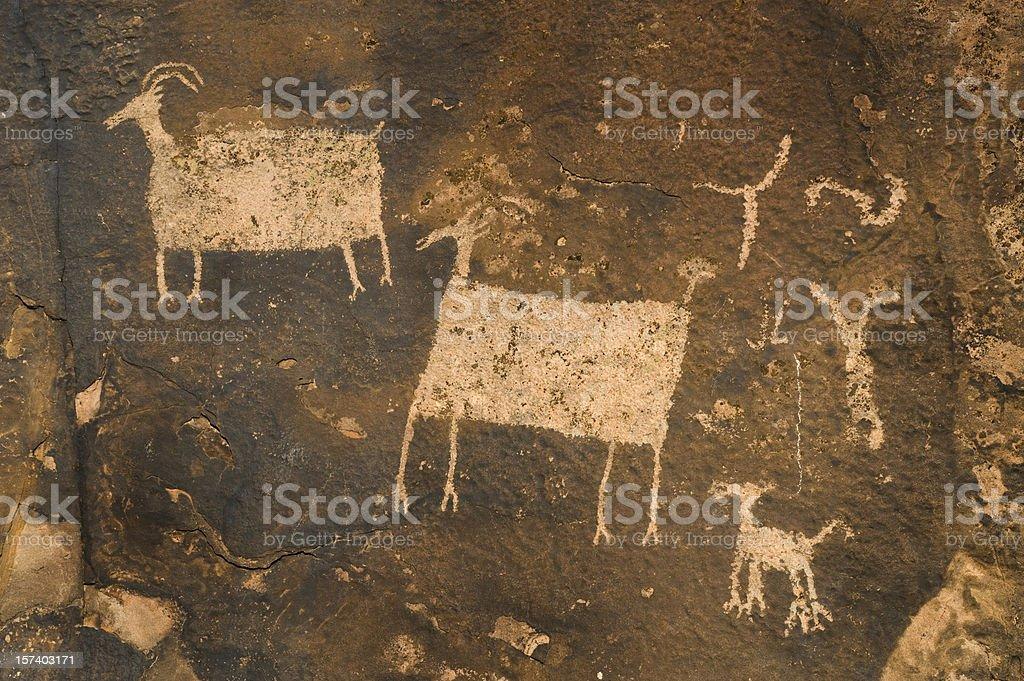 Rock Art, Utah royalty-free stock photo