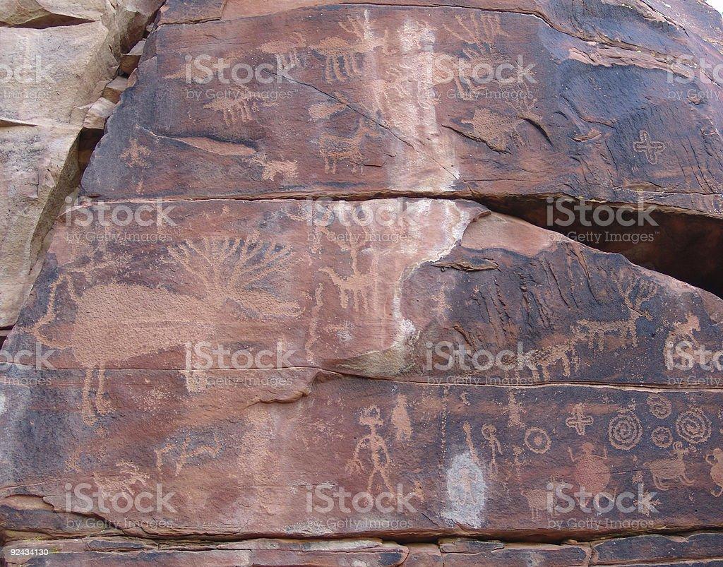 rock art wall royalty-free stock photo