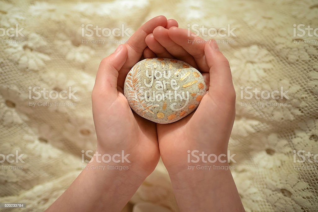 Rock art, you are worthy stock photo