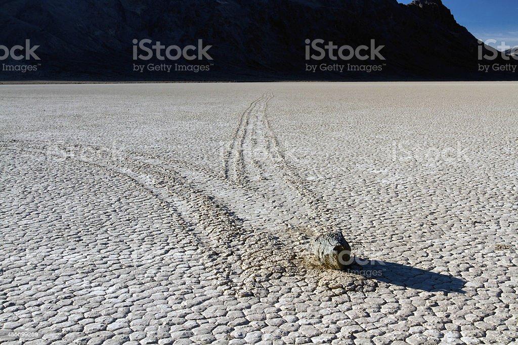 Rock at the Racetrack Playa stock photo