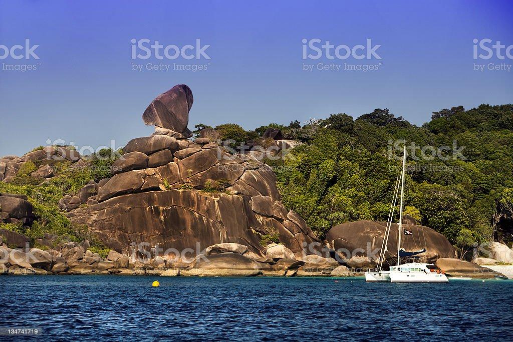 Rock Balance Island royalty-free stock photo
