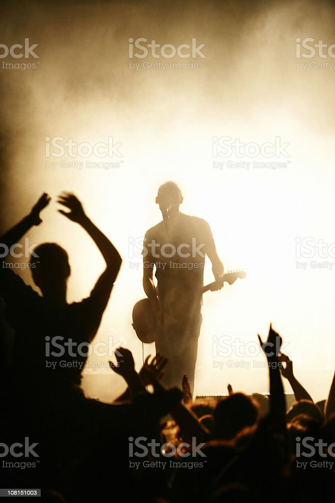 Rock band and fans royalty-free stock photo