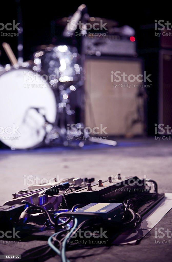 Rock band Instruments stock photo