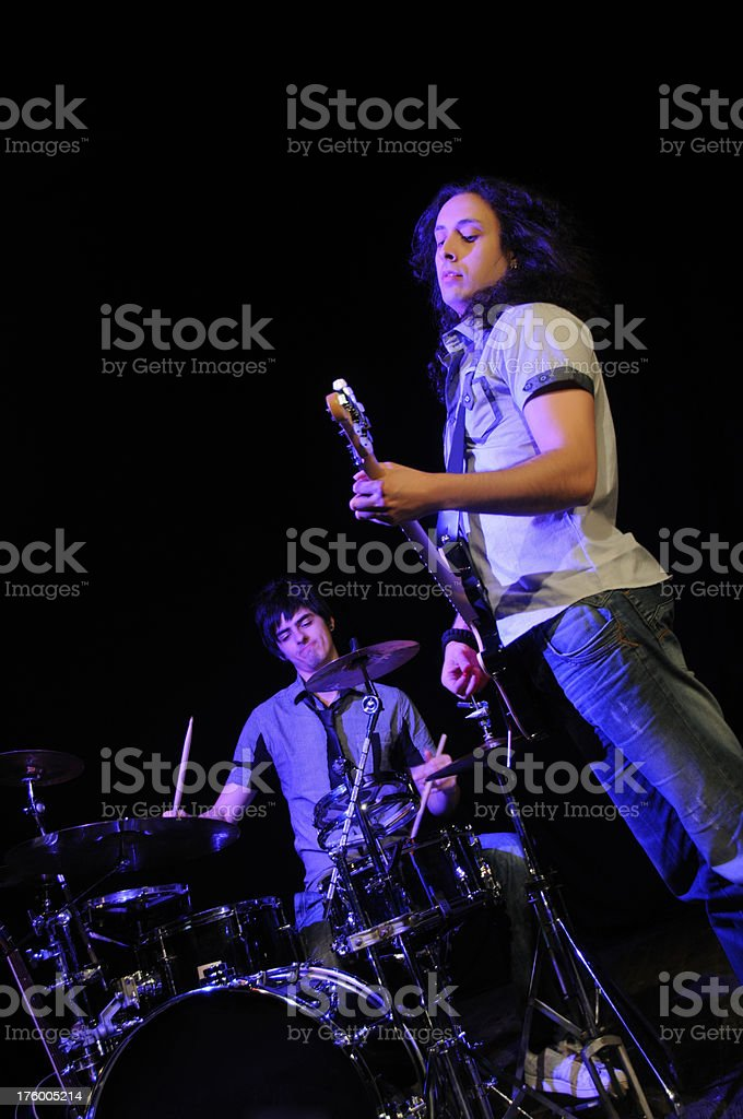 Rock Band Live Performance royalty-free stock photo