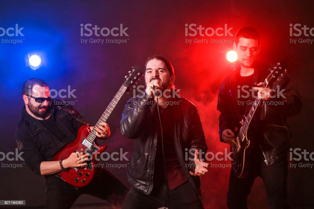 Rock band live stock photo