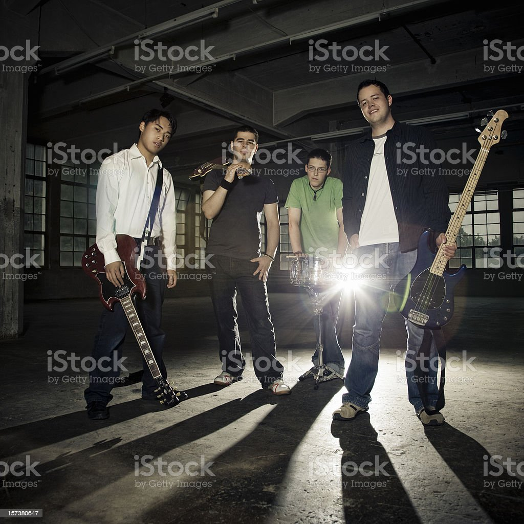 Rock Band Portrait stock photo