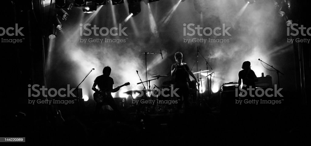 Rock Band Silhouette stock photo