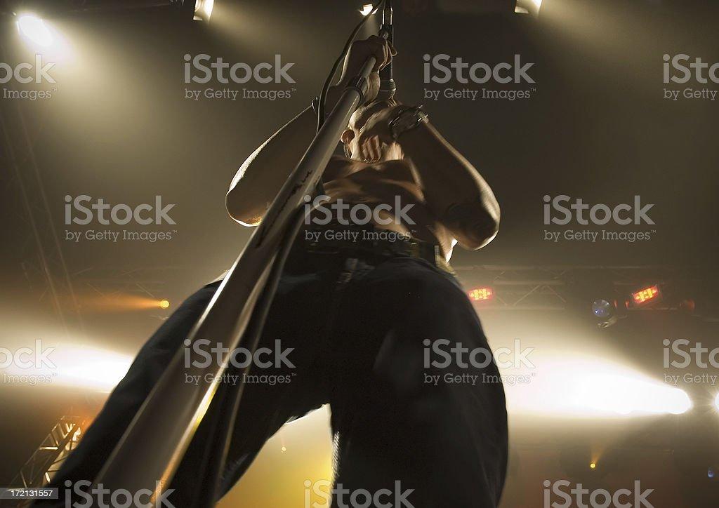 Rock band singer royalty-free stock photo