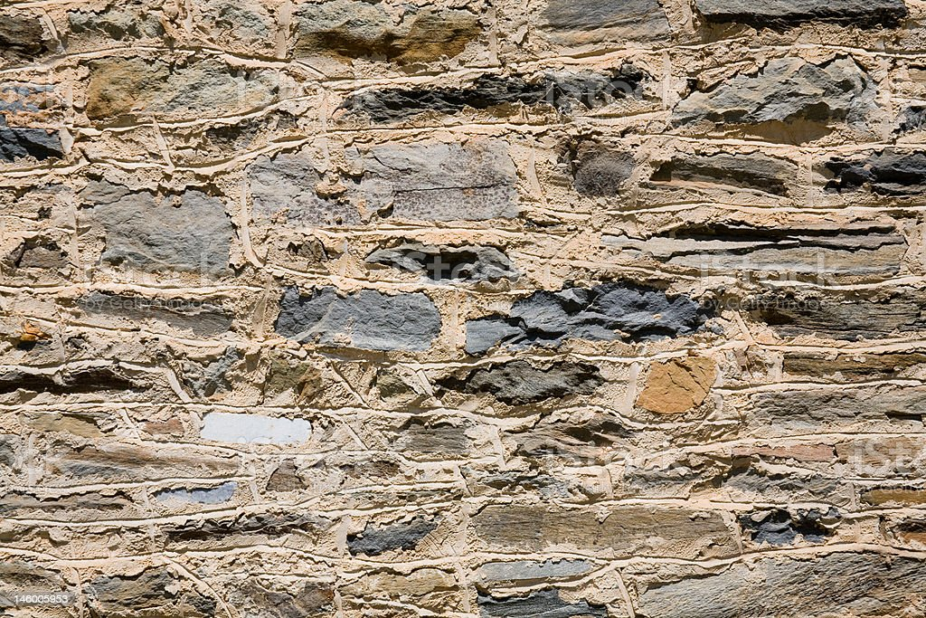 Rock Barn Wall stock photo