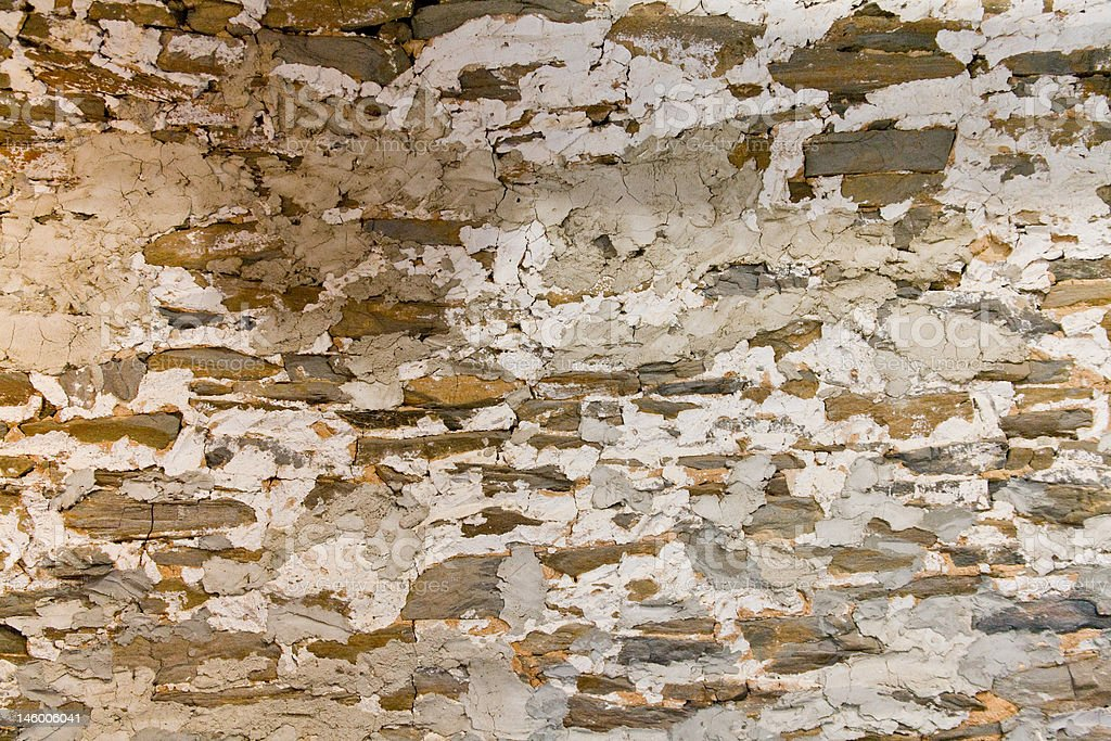 Rock Barn Wall (interior) stock photo