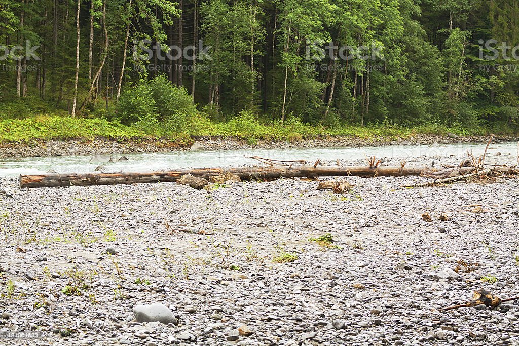 Rock bed of river Breitach royalty-free stock photo