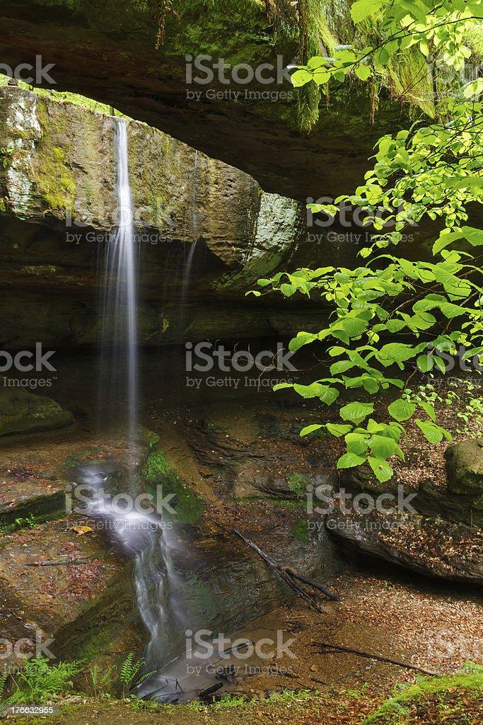 Rock Bridge in Ohio's Hocking Hills royalty-free stock photo