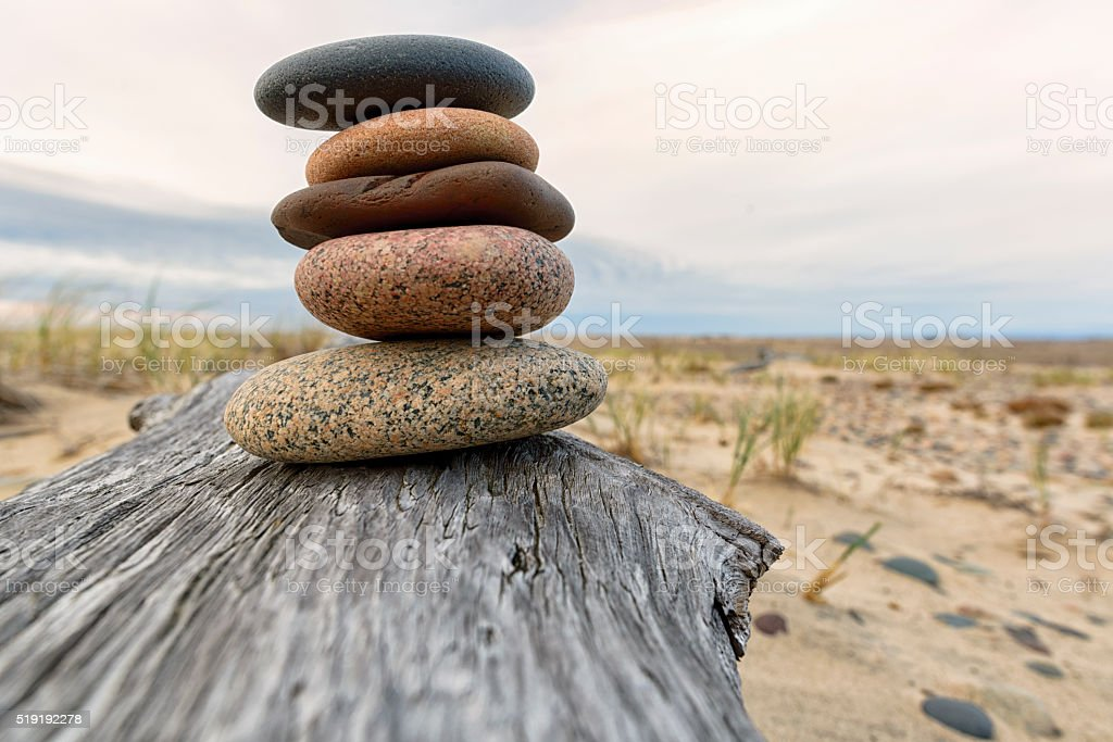 Rock Cairn stock photo
