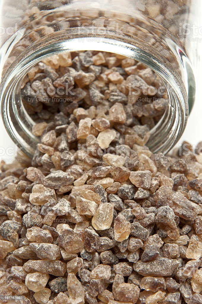 Rock Cane Sugar royalty-free stock photo