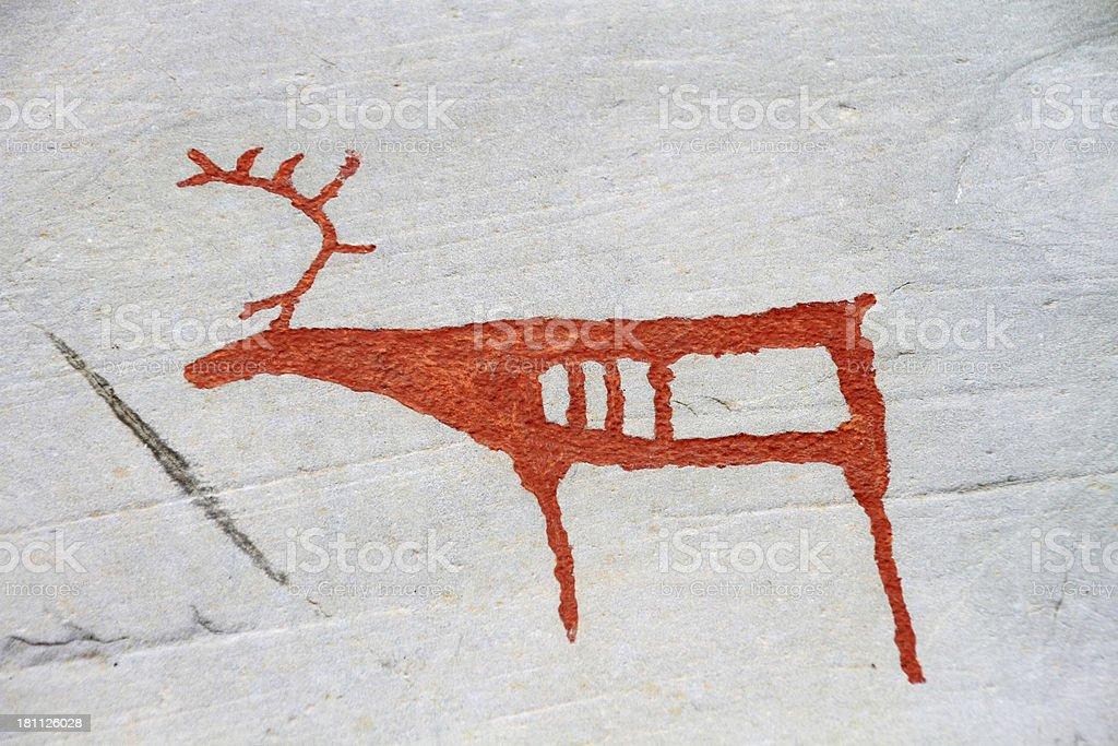 rock carvings Alta stock photo