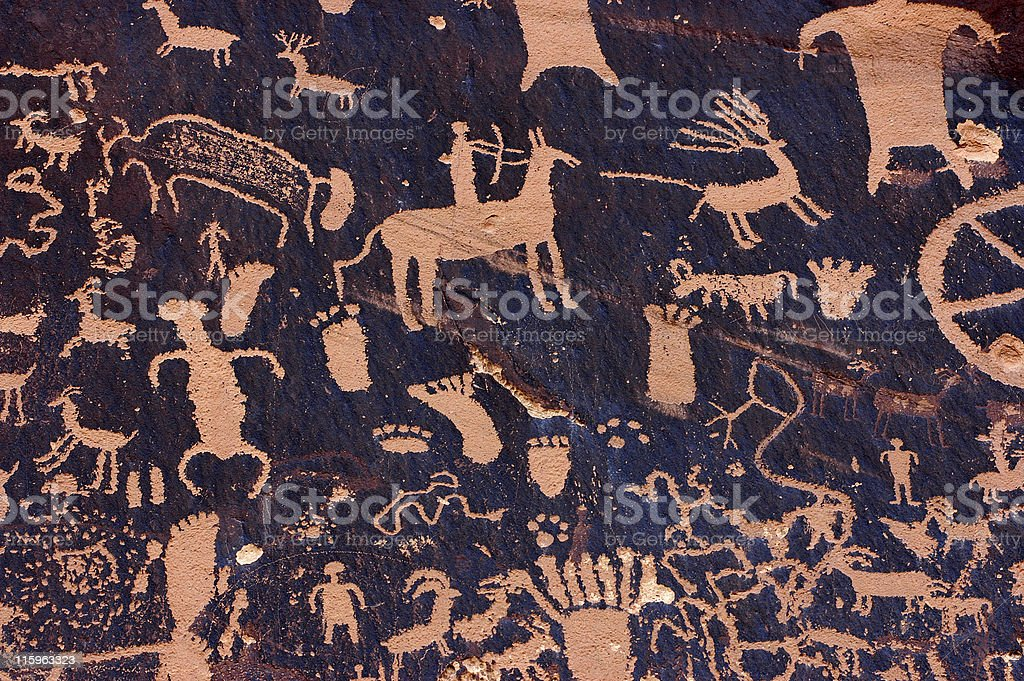 Rock carvings royalty-free stock photo