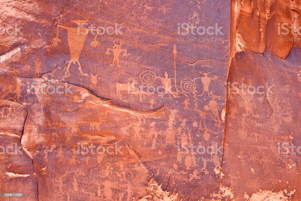 Rock carvings stock photo