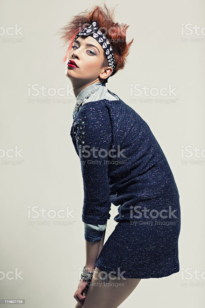 Rock Chic Fashion royalty-free stock photo