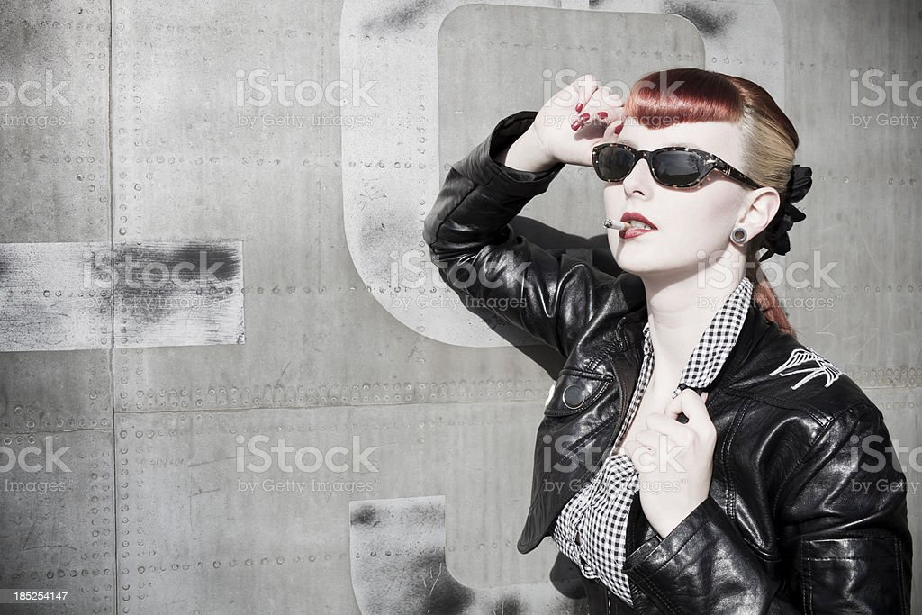 rock chick stock photo