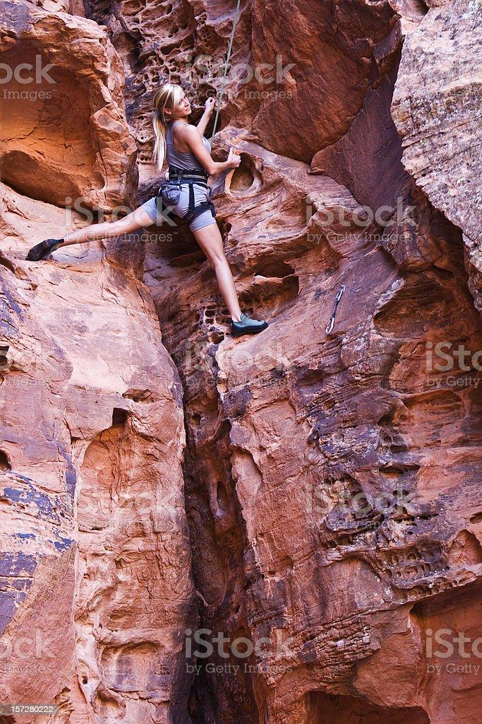 Rock Cimbing stock photo