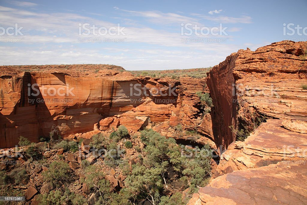 rock cliff on the top of Kings Canyon stock photo