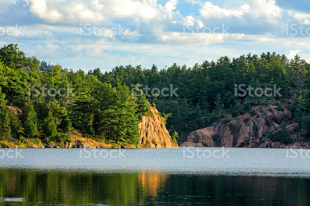 Rock Cliffs Killarney Provincial Park stock photo