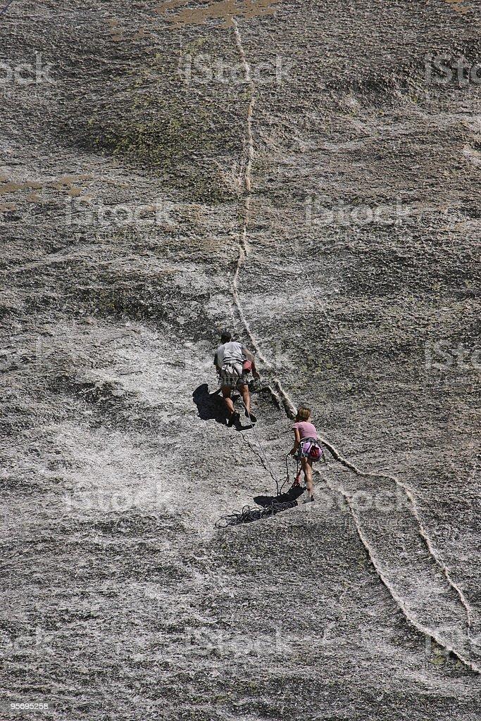 Rock Climbbing stock photo
