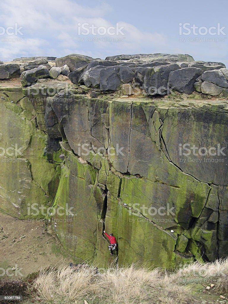 Rock climber  - 001 royalty-free stock photo