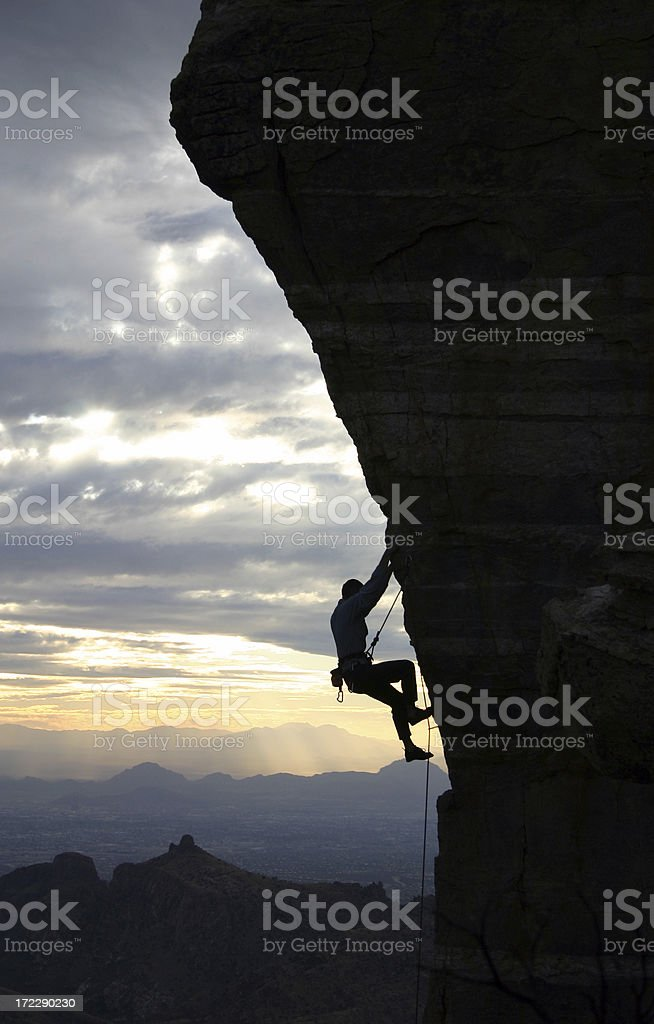 Rock Climber in Tucson royalty-free stock photo