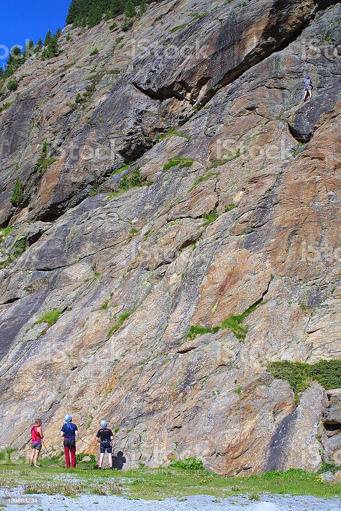 Rock Climber - Mountaineer Group stock photo