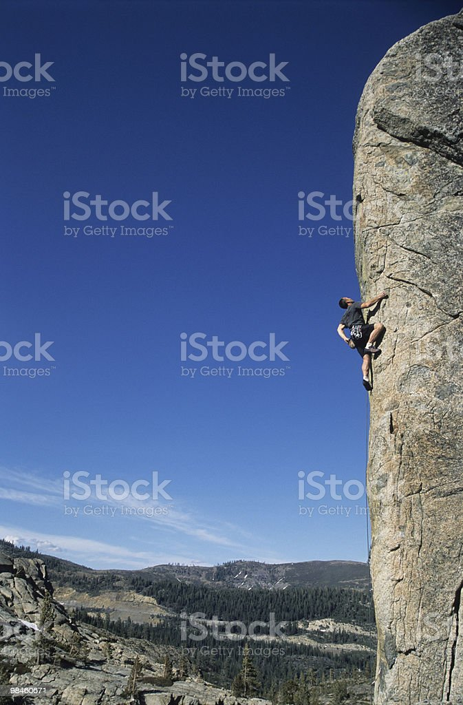 Rock climber on Arete royalty-free stock photo