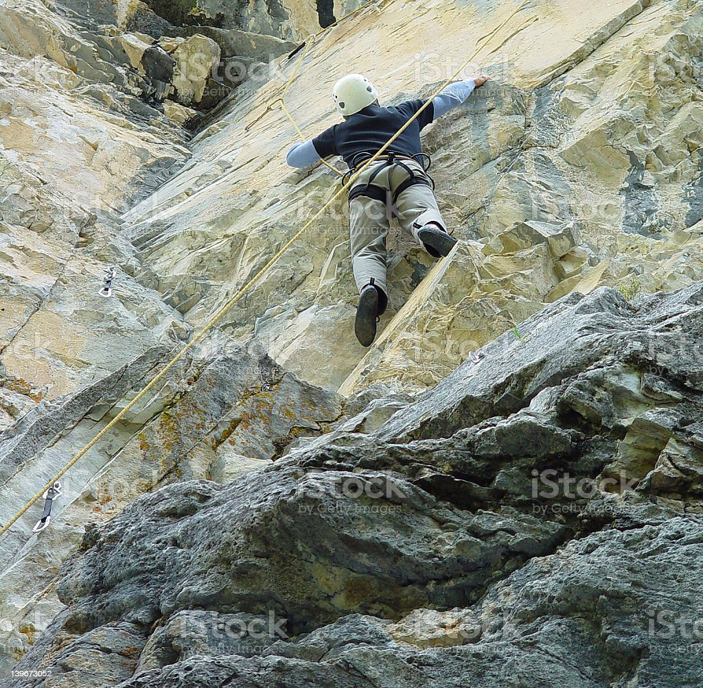 rock climber on the crags royalty-free stock photo