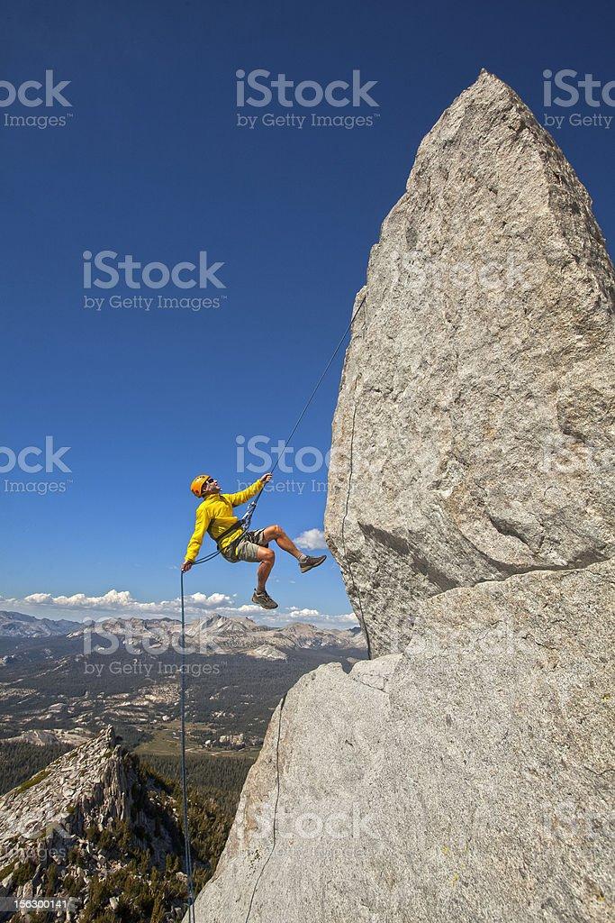 Rock climber on the edge. royalty-free stock photo