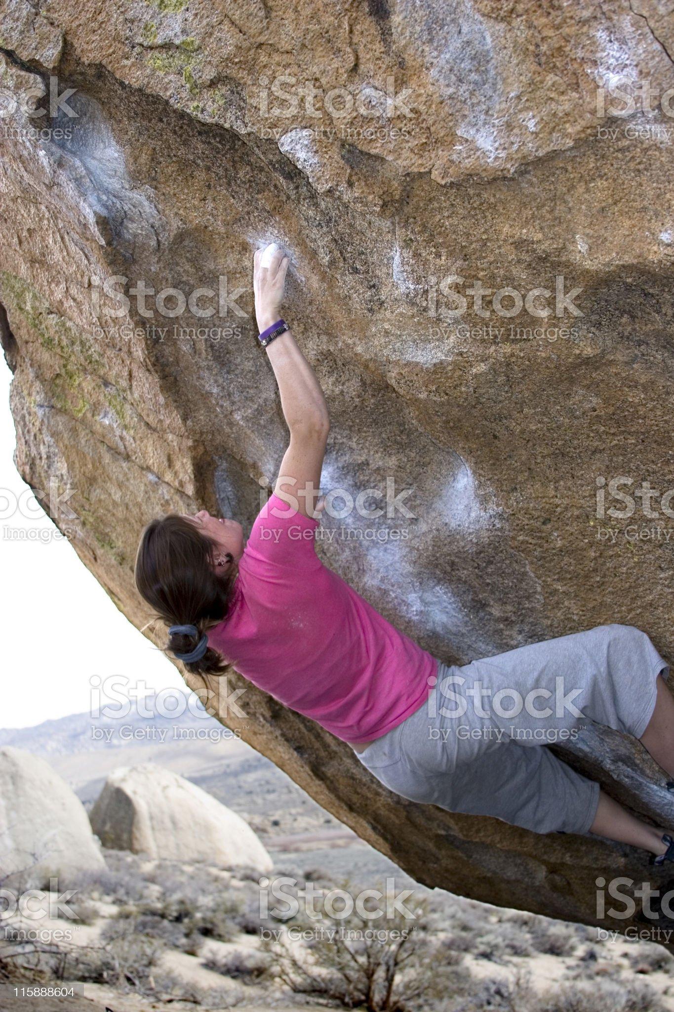 Rock Climber royalty-free stock photo