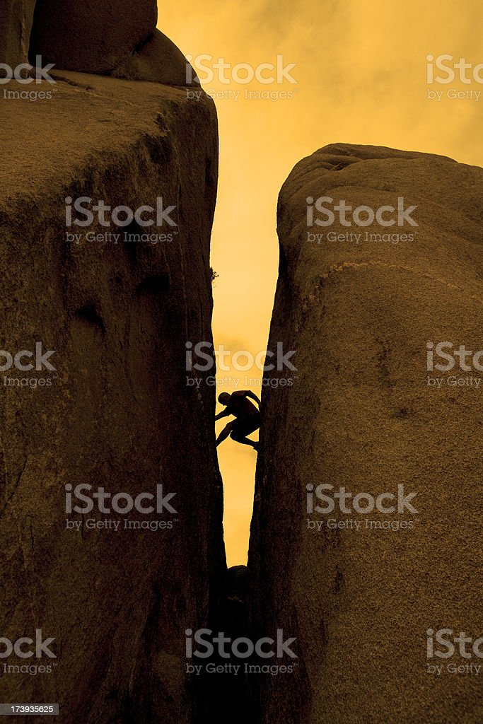 rock climber royalty-free stock photo